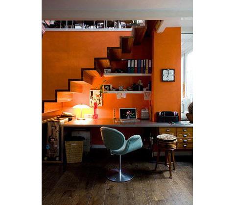 Inspiration: Orange Office area