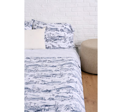 Dirty Linen Suburban Toile Sheet Set