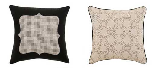 Framed Pin Dot and Sketch Pillow by Dwell Studio