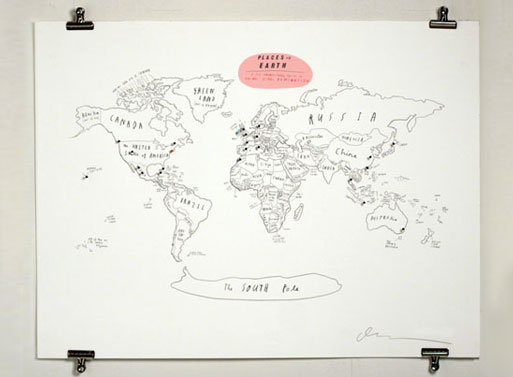 Places on Earth World Map