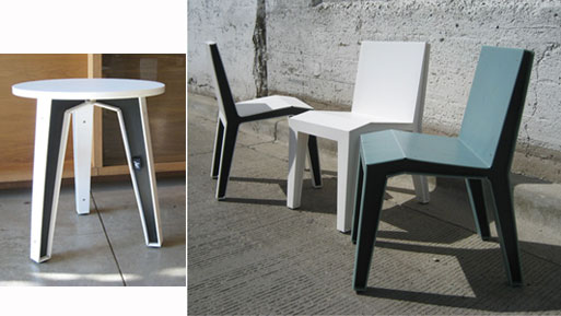 Possum Recycled Chair and Table