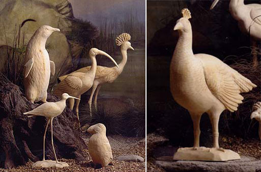 Carved Wood Birds by Roost