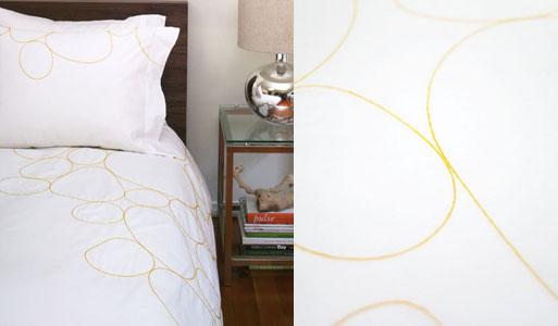 Riverbed Saffron Embroidered Duvet and Shams