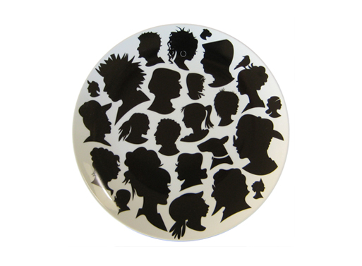 Silhouette Platter and Plates