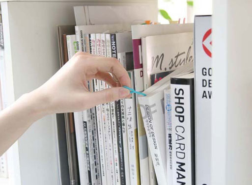 Silicone Bookmark book on shelf