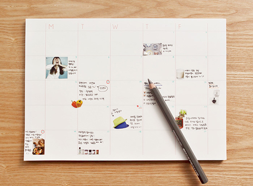 Stick-Up Monthly Planner