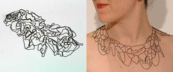 TOPOGRAPHIC NECKLACE BY MELISSA BORRELL