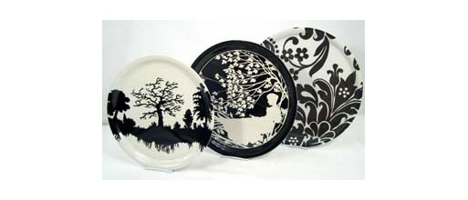 circular victorian gothic trays