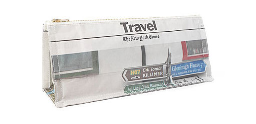 Newspaper Cosmetic Pouch