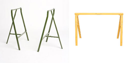 UO Sawhorse Table Legs and Crawford Sawhorse