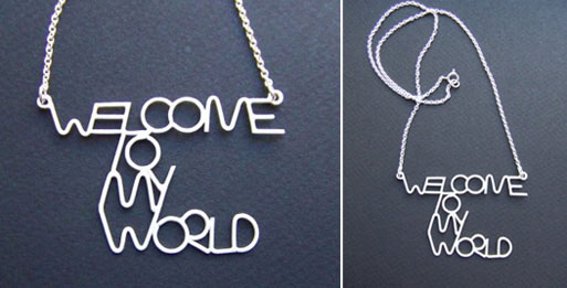 Welcome To My World Necklace
