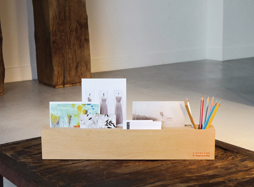 Wood Block Desk Organizer