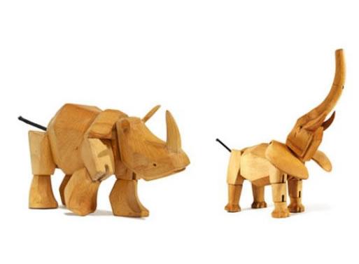 Simus the Rhino and Hattie the Elephant