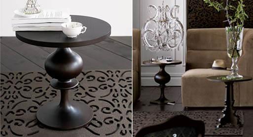 Turned Wood Pedestal Table
