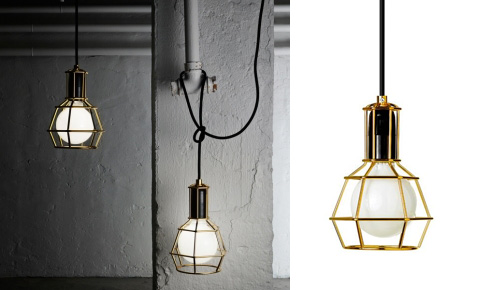 Design House Work Lamp, Gold and Chrome