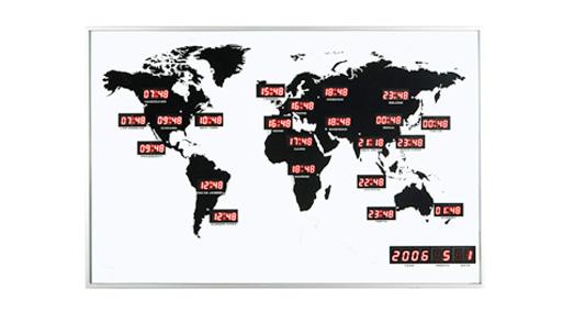 Nextime World LED Clock