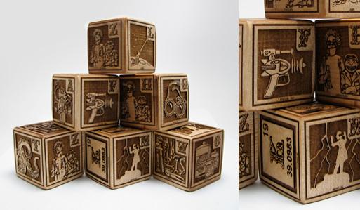 Mad Scientist's First Alphabet Blocks