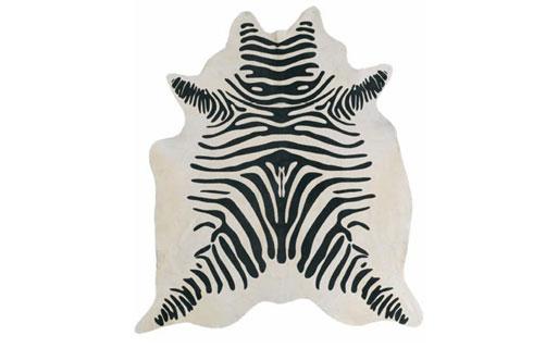 Hide Rug- Zebra