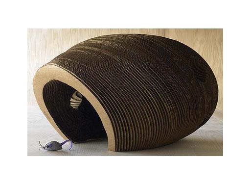 Cardboard Cat Cocoon