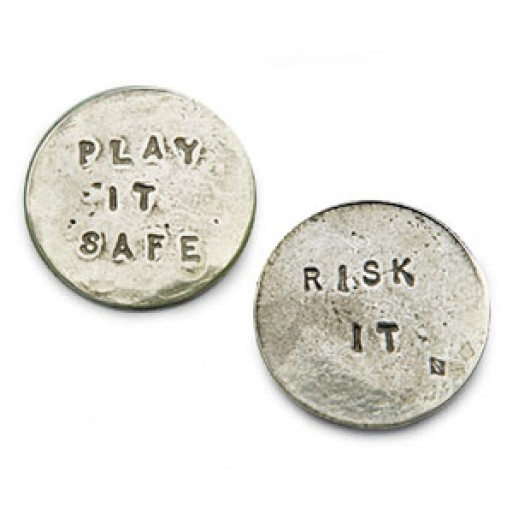 Risk it/Play it safe Coin by Tamara Hensick