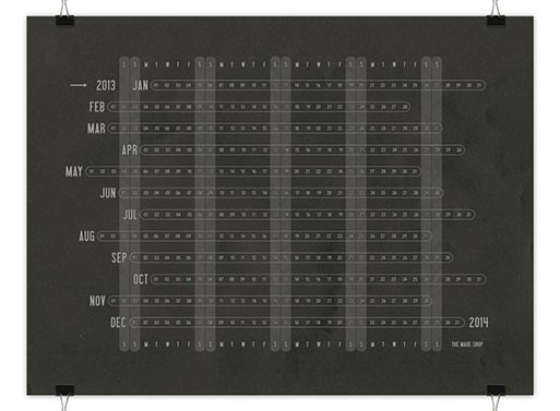 2013 Linear Calendar