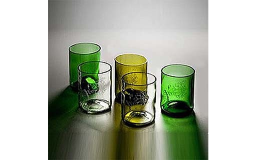 Bottle Water Glasses
