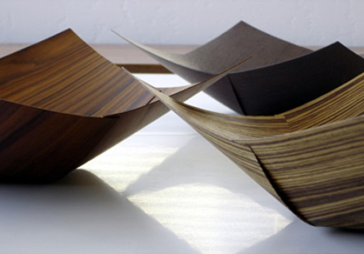 Square veneer bowl