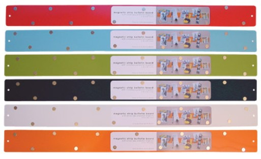 three by three magnetic strip bulletin board