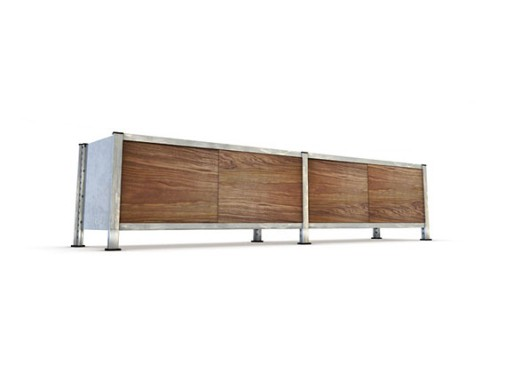 mshelving: Media Console with Walnut doors