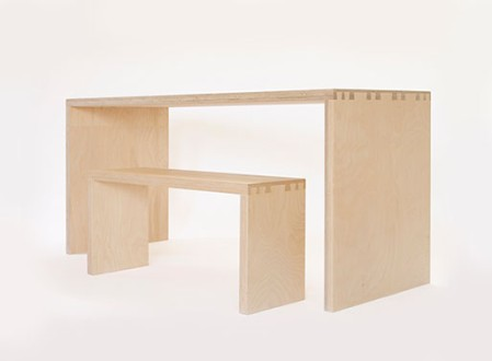 Simone Table and Bench