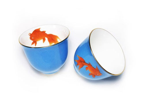 """Goldfish"" Asia Tea Cup"