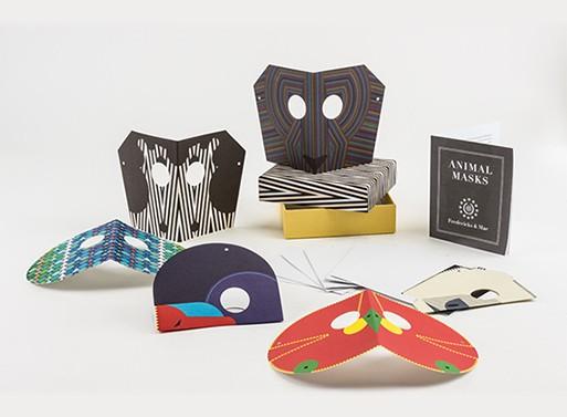 Animal Mask Notecards
