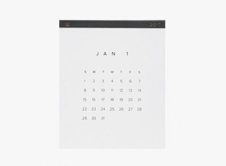 2017 Wall Calendar from Appointed