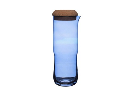 Aqua Carafe with Cork Lid