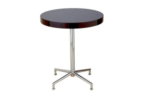 Soiree Round Accent Table – Black Lacquer