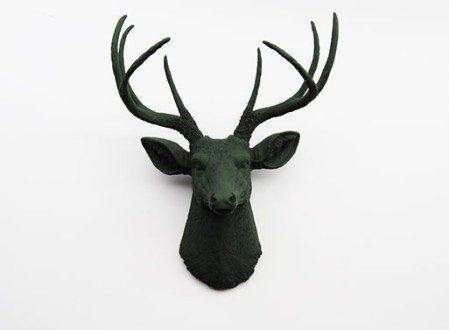 White Faux Taxidermy