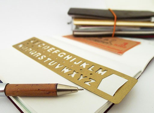 Brass Alphabet Bookmark