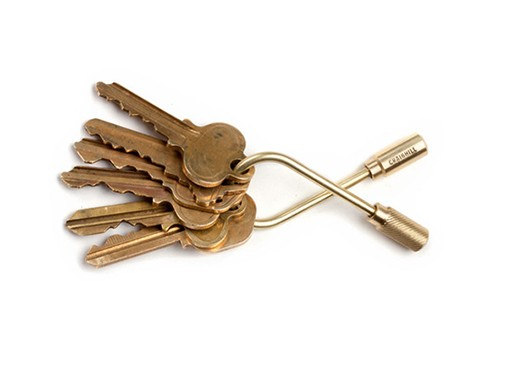 Open and Closed Helix Keyring