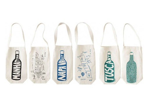 Around the World Wine Totes