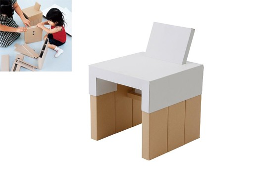 DIY Cardboard Kid's Chair