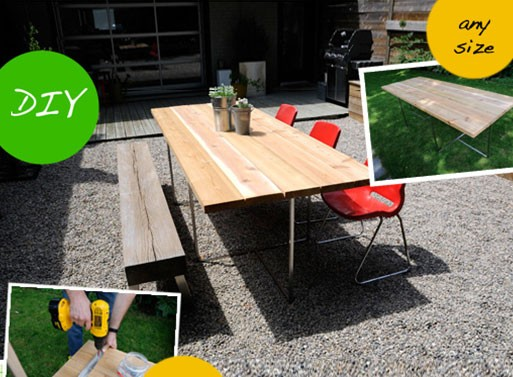 Custom Backyard Table