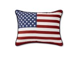 Embroidered American Flag Pillow