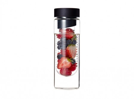 Flavour It Glass Water Bottle
