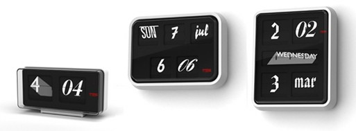 Font Clock by Sebastian Wrong