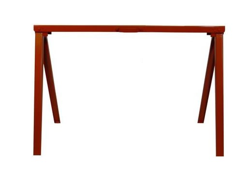 Fulton sawhorse desk work better living through design Sawhorse desk legs