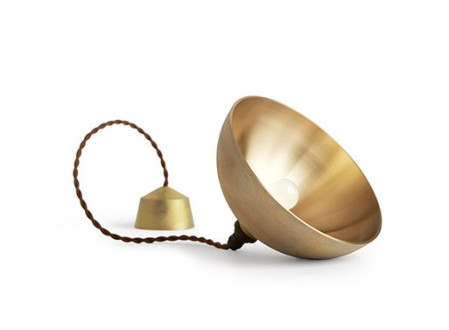 Brass Pendant Lamps by Futagami