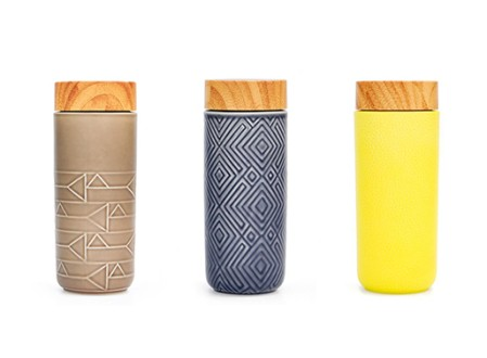 Geo Ceramic Travel Mug