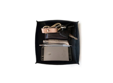 Halflight Leather Valet Tray