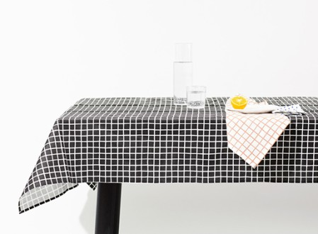 Grid and Rain Table Linens by Sylvain Willenz