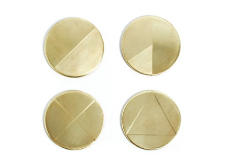Kiel Mead Brass Coasters